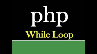 while loop in php | php tutorial