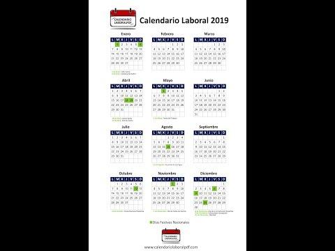 Calendario Laboral 2019 - Festivos nacionales 2019 -