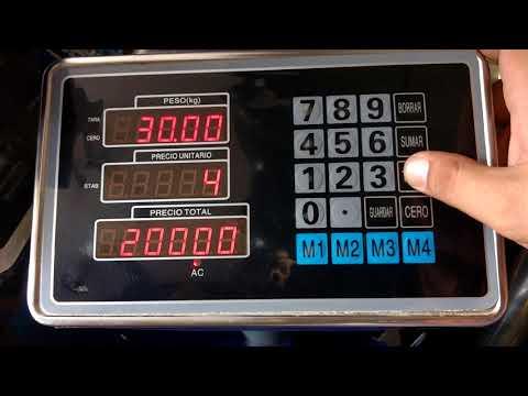 Ajuste de peso (calibración) indicador Chino TCS acero inoxidable