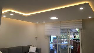 איך לבנות תקרה צפה מגבס עם תאורה נסתרת