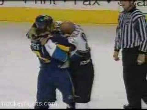 Andrew Peters vs. Donald Brashear