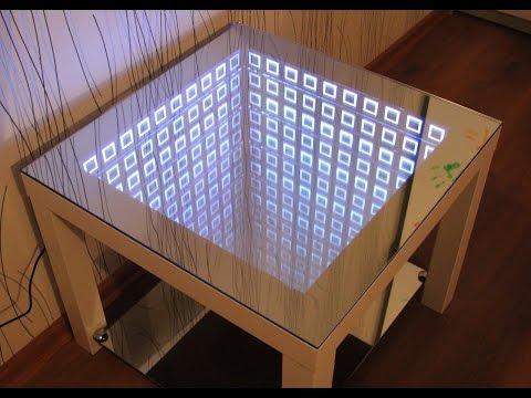 стол с подсветкой эффектом бесконечного зеркала infinity mirror