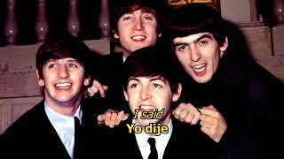 She said, she said - The Beatles (LYRICS/LETRA) [Original]