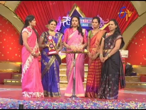 Star Mahila  18th  October 2016  Full Episode  ETV Telugu