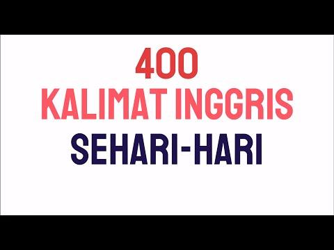 400 KALIMAT BAHASA INGGRIS SEHARI HARI