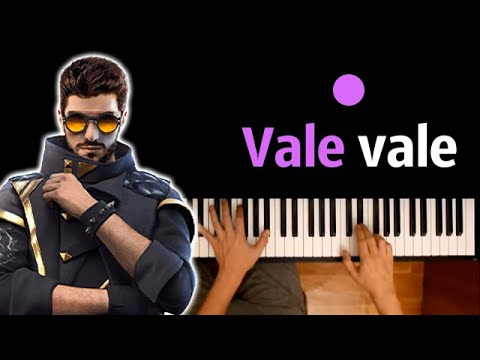 Песня Free fire - Vale Vale (DJ Алок) ● караоке | PIANO_KARAOKE ● ᴴᴰ + НОТЫ & MIDI