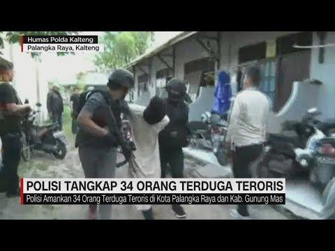 Polisi Tangkap 34 Orang Terduga Teroris di Palangka Raya