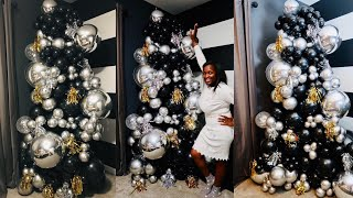 A VERY EXTRA 9ft Organic Balloon Column Tutorial | New Year Themed
