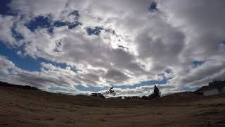 First attempt at Motocross chasing with FPV drone raw footage