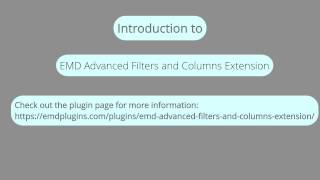 "EMD Advanced Filters and Columns Extension for ""Request a Quote"" WordPress Plugin"