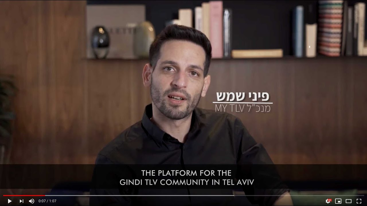 <p>Pini Shemesh (Co-Founder &amp; CEO) presents myTLV app for GindiTLV project</p>