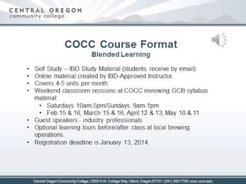 COCC General Certificate in Brewing (GCB) Exam Prep Course ...
