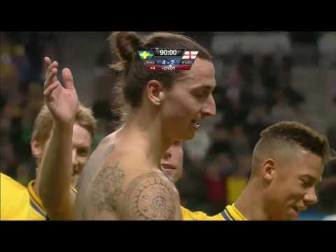 Gol din foarfeca Zlatan Ibrahimovic | Suedia Anglia 4-2 | Sport.ro