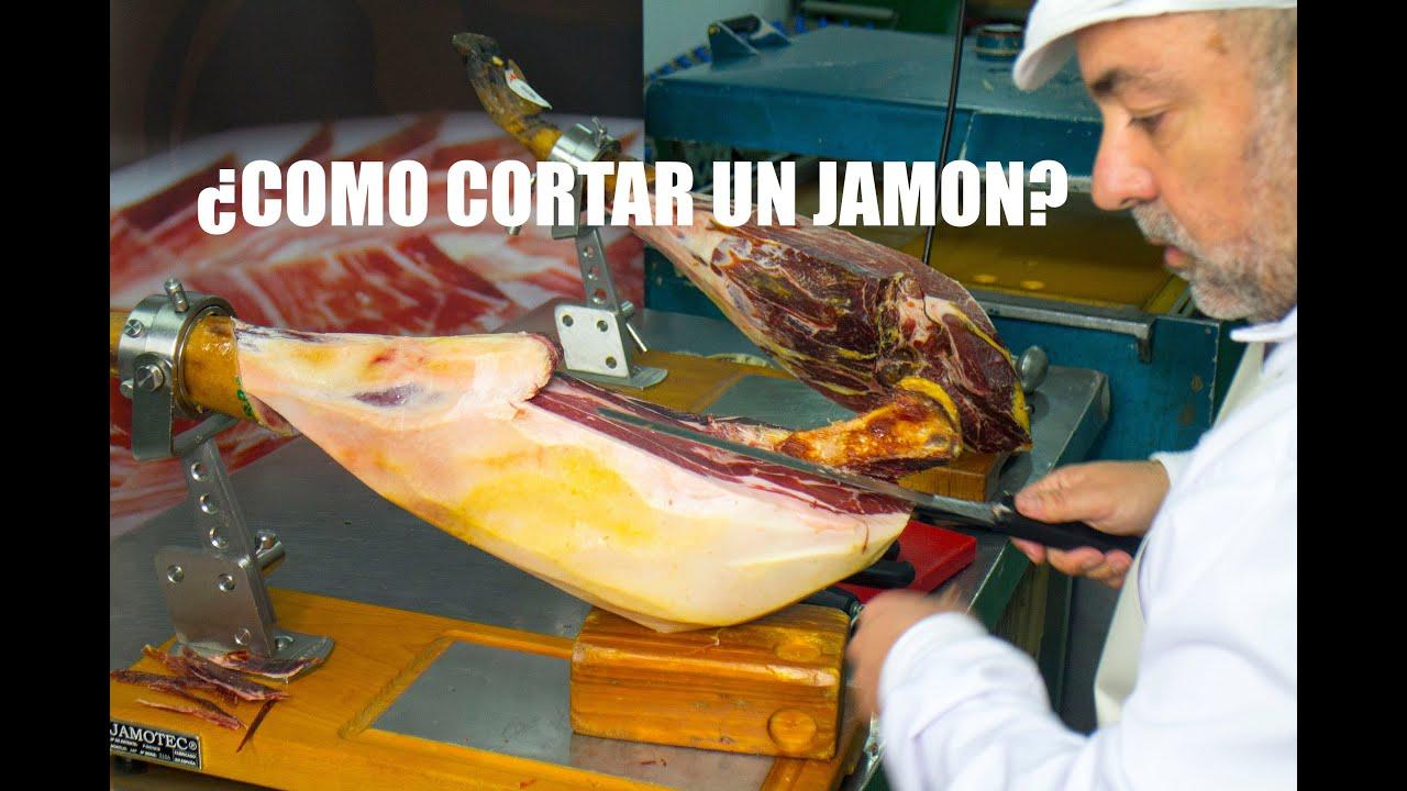 COMO CORTAR UN JAMON, EXPLICADO POR UN MAESTRO CORTADOR.