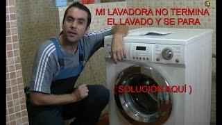 COMO REPARAR UNA LAVADORA ( Lavadora se para y no termina el lavado)