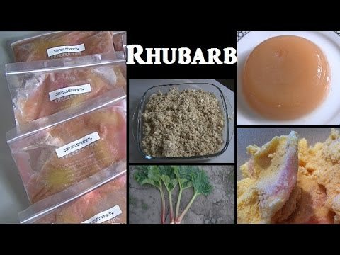 Video Rhubarb Recipes: Stewed, Crumble, Ice Cream & Jelly
