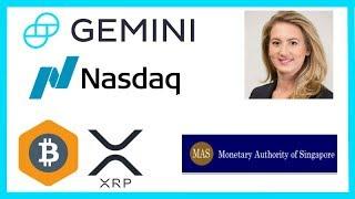 Crypto Hedge Funds Rise - Nasdaq COO Gemini - Singapore Crypto Banking - Mercado Bitcoin Ripple XRP