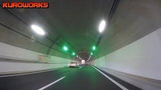 全線開通の新名神の神戸JCT~川西IC夜間の交通量が...日本初導入のペースメーカーライトが凄い♪車中泊の旅中に高槻JCTまでをGoPro撮影♪
