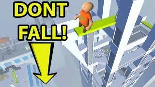 DON'T FALL OFF  THE SKYSCRAPER IN HUMAN FALL FLAT