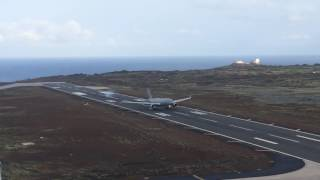 preview picture of video 'Voyager landing at RAF Ascension Island'