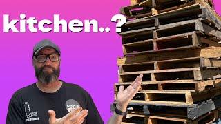 Kitchen Island - Pallet Wood