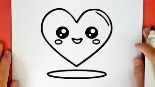 ציור לב חמוד