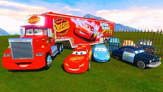 Cars Mack Truck Trailer McQueen Professor Sally The King Chick Hicks Hudson Mater