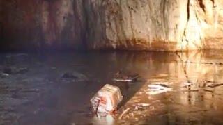 Trebiciano: la grotta inquinata da idrocarburi esausti