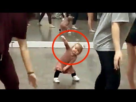 Эта малышка на уроке танцев стала мировой сенсацией. Огонь