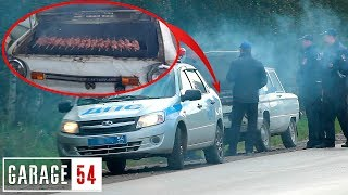 How the police will react to a barbecue in the car / SOCIAL EXPERIMENT