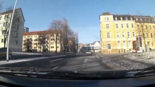 preview picture of video 'Fahrt durch Plauen'