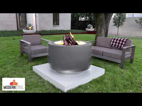 "38"" Arco Fia Wood Burning Fire Pit"