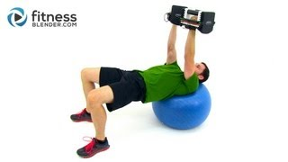 Quick Chest and Back Workout - Dumbbell Chest Workout at Home by FitnessBlender