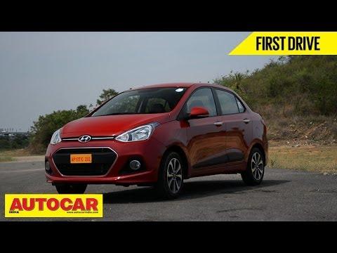 2014 Hyundai Xcent Compact Sedan | First Drive Video Review | Autocar India