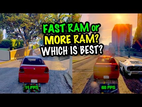 MORE RAM or FASTER RAM? Which is best for Gaming? Gameplay Tests