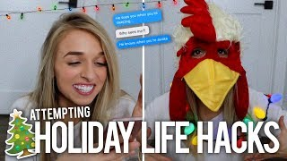 WEIRD HOLIDAY LIFE HACKS - Video Youtube