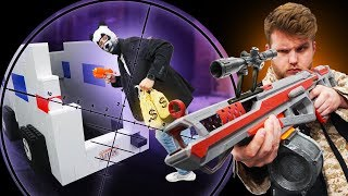 NERF Snipers VS Thieves IRL Challenge!