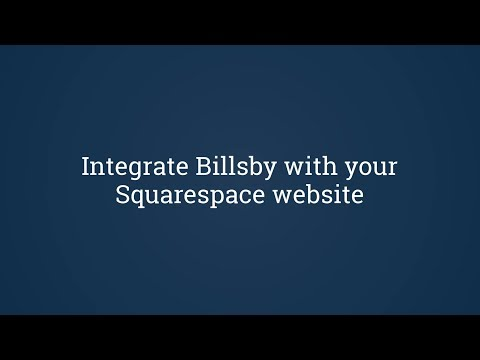 Integrate Billsby with your Squarespace website