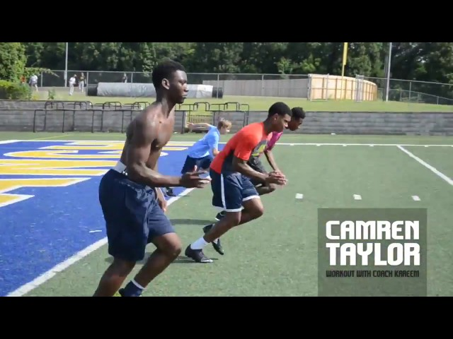 Coach Kareem: 2017 Camren Taylor Workout Session