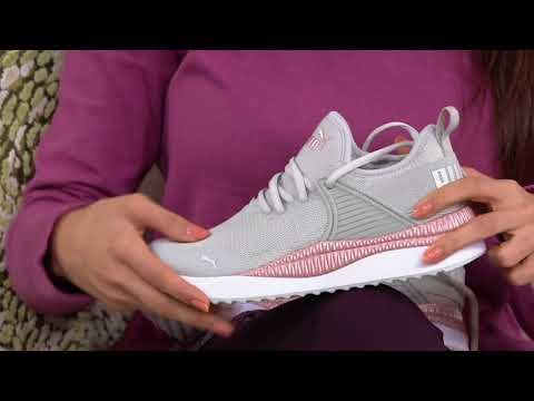 PUMA  Metallic Lace-Up Sneakers - Pacer Next on QVC