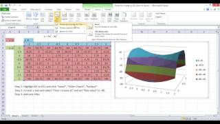 Plotting a 3D graph in Excel