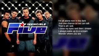 Five: 03. Don't Wanna Let You Go (Lyrics)