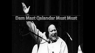 dum mast qalandar - nusrat fateh ali khan (lyrics   - YouTube