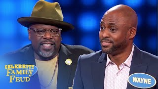 Cedric the Entertainer and Wayne Brady bring the funny! | Celebrity Family Feud