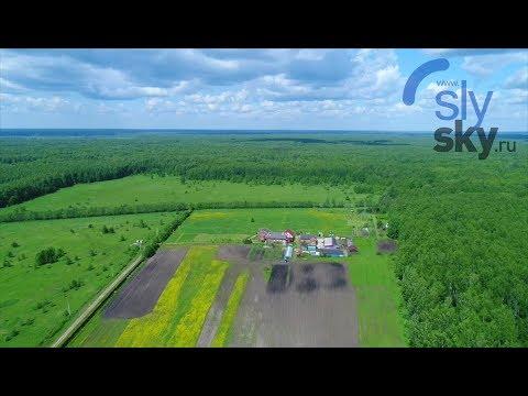 Съемка с воздуха экофермы Валерия Савченко.