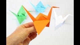 Оригами Журавлик счастья. Как сделать оригами журавля из бумаги.Origami.Paper Crane