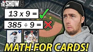 DOING MATH FOR 99 OVERALLS....MLB THE SHOW 19 DIAMOND DYNASTY