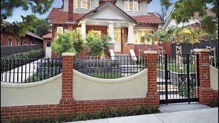 Beautiful Brick Wall Fence Designs