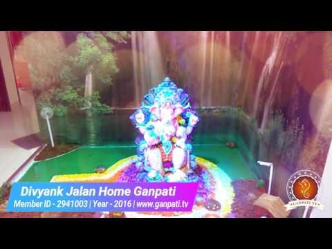 Divyank Jalan Home Ganpati Decoration Video