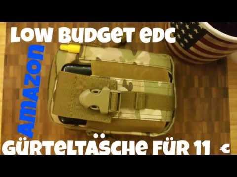 ✔LOW BUDGET EDC Gürteltasche f. 10 € @ Amazon!